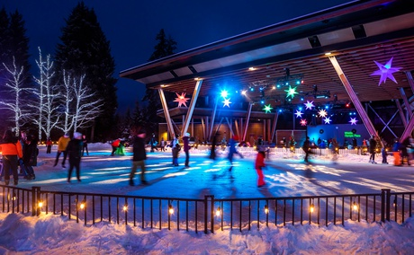 Ice Skating in Whistler - Elevate Vacations Whistler bc